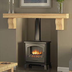 Bemodern Celia Solid Oak Fireplace Beam