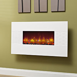 Bemodern Orlando Gloss White Hang on the Wall Electric Fire