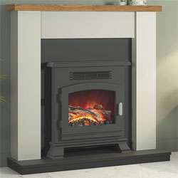 Bemodern Ravensdale Electric Fireplace Suite