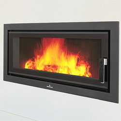 Bronpi Londres Vision Panoramic Inset Wood Burning Stove