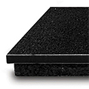 Polished Black Granite Hearth (GAS) HEF088