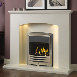 Gallery Cartmel Arctic White Marble Fireplace