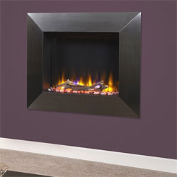 Celsi Ultiflame VR Impulse Black Chrome Hole in Wall Electric Fire