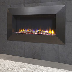 Celsi Ultiflame VR Instinct Black Chrome Hole in Wall Electric Fire