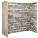 Fire Depot Chamber Ceramic Grey Brick Bond