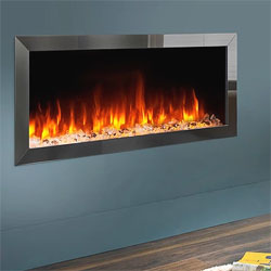 Costa Fires Atlantis MF Black Nickel Trim Hole in Wall Electric Fire