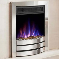 Costa Fires Challenger Silver Contemporary Electric Fire