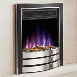 Costa Fires Challenger Silver and Black Contemporary Electric Fire