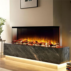 Costa Fires Discovery 3 Sided Electric Fire