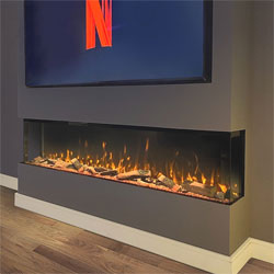 Costa Fires Discovery XL Grande 3 Sided Electric Fire