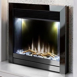 Costa Fires Mercury Black Nickel Contemporary Electric Fire