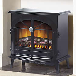 Dimplex Stockbridge Electric Stove Glossy Black