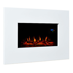 Eko Fires 1110 White Metal Hang on the Wall Electric Fire