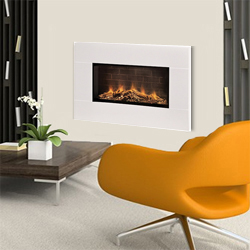 Europa Fireplaces Loko White Mist Wall Mounted Electric Fire