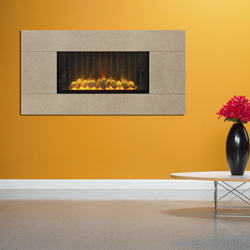 Europa Fires Loko Wide Chiffon Wall Mounted Electric Fire