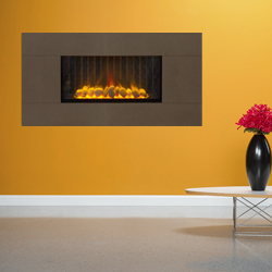 Europa Fireplaces Loko Wide Expresso Wall Mounted Electric Fire