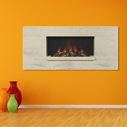 Europa Fireplaces Luna Wide Calico Wall Mounted Electric Fire