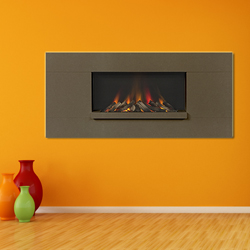 Europa Fireplaces Luna Wide Expresso Wall Mounted Electric Fire