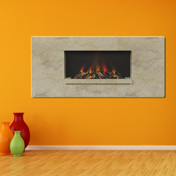 Europa Fireplaces Luna Wide Seashell Wall Mounted Electric Fire
