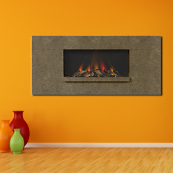 Europa Fireplaces Luna Wide Truffle Wall Mounted Electric Fire