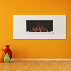 Europa Fireplaces Luna Wide White Mist Wall Mounted Electric Fire