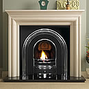 Pureglow Wenlock Limestone Cast Fireplace Gas Suite