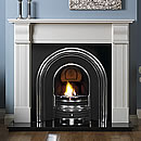Pureglow Knighton Marble Cast Fireplace Gas Suite