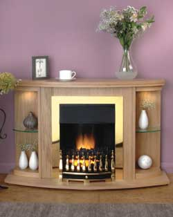 Flamerite Mulberry Suite Electric Fireplace