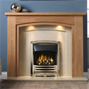 Gallery Allerton Oak Wooden Fireplace with Perla Marble Suite