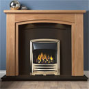Gallery Allerton Oak Wooden Fireplace with Black Granite Suite