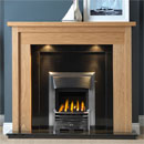 Gallery Askham Oak Wooden Fireplace with Black Granite Suite