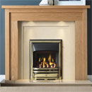Gallery Askham Oak Wooden Fireplace with Perla Marble Suite