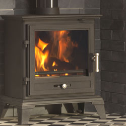 Gallery Classic 8 ECO Multi Fuel Wood Burning Black Stove