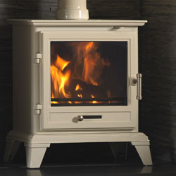 Gallery Classic 8 ECO Multi Fuel Wood Burning White Stove