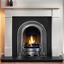 Gallery Coronet Half Polish Cast Iron Arch Gas Package