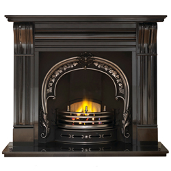 Gallery Fitzwilliam Cast Iron Arch Solid Fuel Package