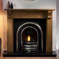 Gallery Lytton Cast Iron Arch Solid Fuel Package