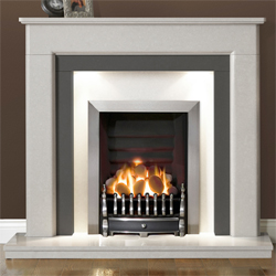 Gallery Riverslea Arctic White Marble Fireplace