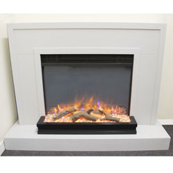 Garland Fires Artegon Electric Fireplace Suite