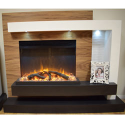 Garland Fires Zeuce Electric Fireplace Suite