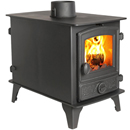 Hunter Stoves Hawk 4 Double Sided DD Multi Fuel Wood Burning Stove