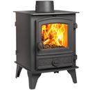 Hunter Stoves Hawk 4 Double Sided SD Multi Fuel Wood Burning Stove