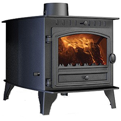 Hunter Stoves Herald 6 Double Sided DD Multi Fuel Wood Burning Stove