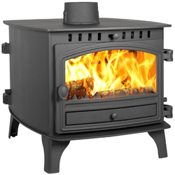 Hunter Stoves Herald 8 Double Sided DD Multi Fuel Wood Burning Stove