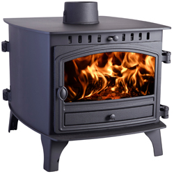 Hunter Stoves Herald 8 Double Sided DD Wood Burning Stove