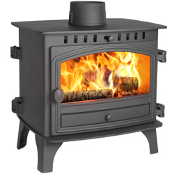 Hunter Stoves Herald 8 Double Sided SD Wood Burning Stove