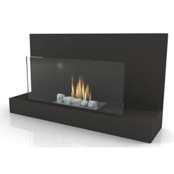 Imagin Fires Alden Black Bio Ethanol Fireplace