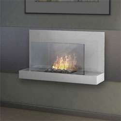 Imagin Fires Alden White Bio Ethanol Fireplace Lowest Price Uk