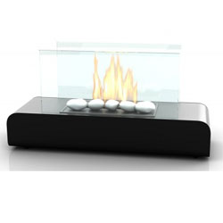 Imagin Fires Dalton Black Bio Ethanol Fireplace