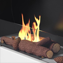 Log Fuel Bed <br>